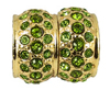 Olive Crystal Magnetic Clasps